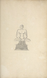 Jain statue from Tumkur. May 1800. Published as an engraving in AR(9), opposite p.272